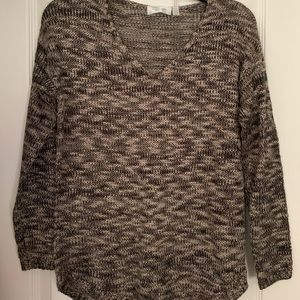 Black and Beige Sweater